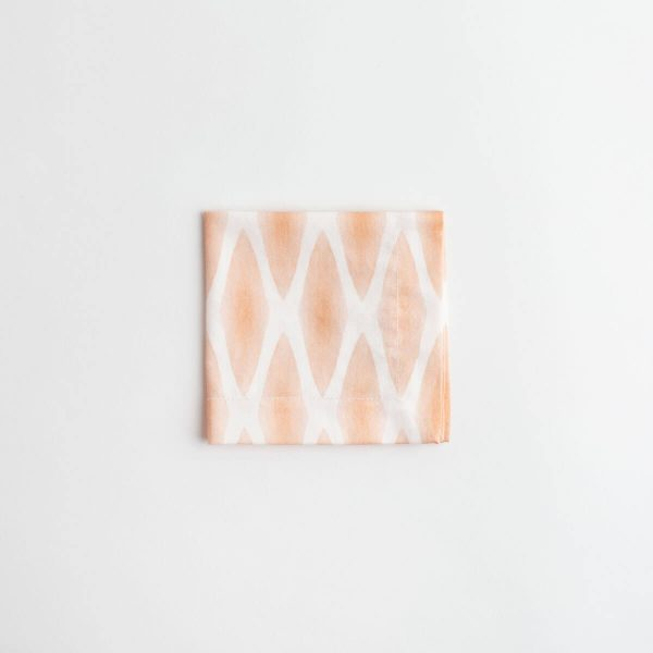 Luxury organic rust diamond lattice cocktail napkin folded