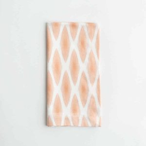 Luxury organic rust diamond lattice folded dinner napkin