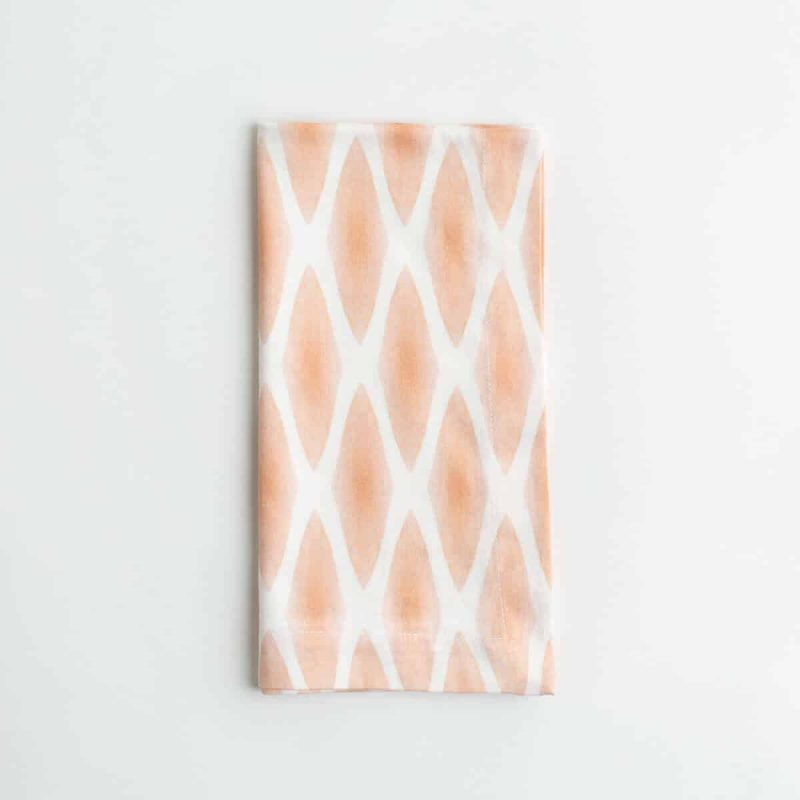 Luxury organic rust diamond lattice folded dinner napkin