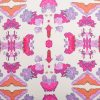 Luxury organic pink abstract tribal pattern square pillow pattern detail