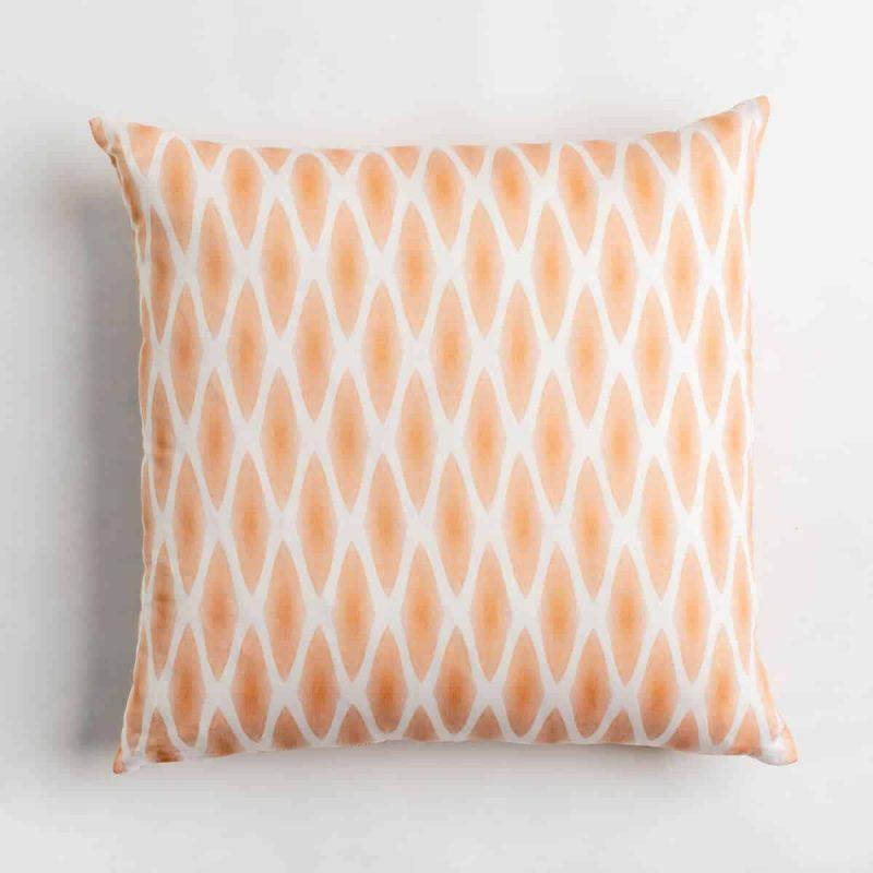 Luxury organic rust diamond lattice square pillow