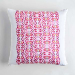 Luxury organic pink lace pattern square pillow