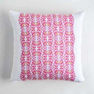Luxury organic pink lace pattern square pillow