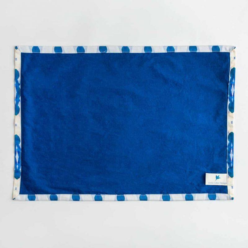 Luxury organic blue diamond placemat back