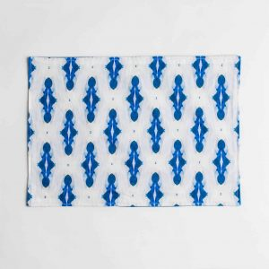 Luxury organic blue diamond placemat face