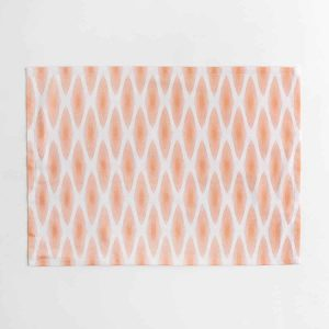 Luxury organic rust diamond lattice placemat face