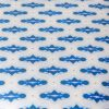 Luxury organic blue mini diamond pattern upholstered stool pattern detail