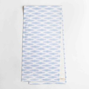 Luxury organic periwinkle diamond lattice table runner