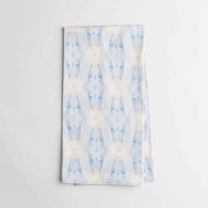 Luxury organic periwinkle blue diamond kitchen tea towel