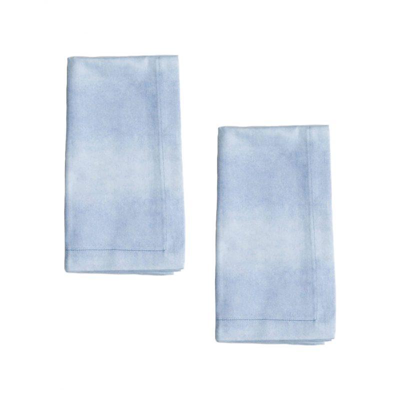 blue and white tie dye organic cotton napkins