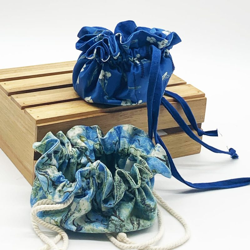 blue jewelry bags