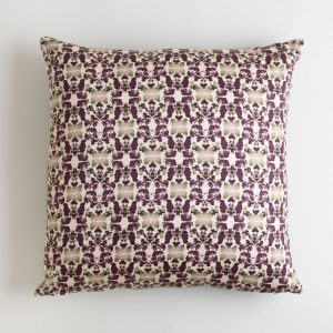 Beach Rose Merlot and Sage Pillow made from organic cotton
