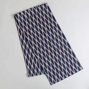 Navy and blush table runner
