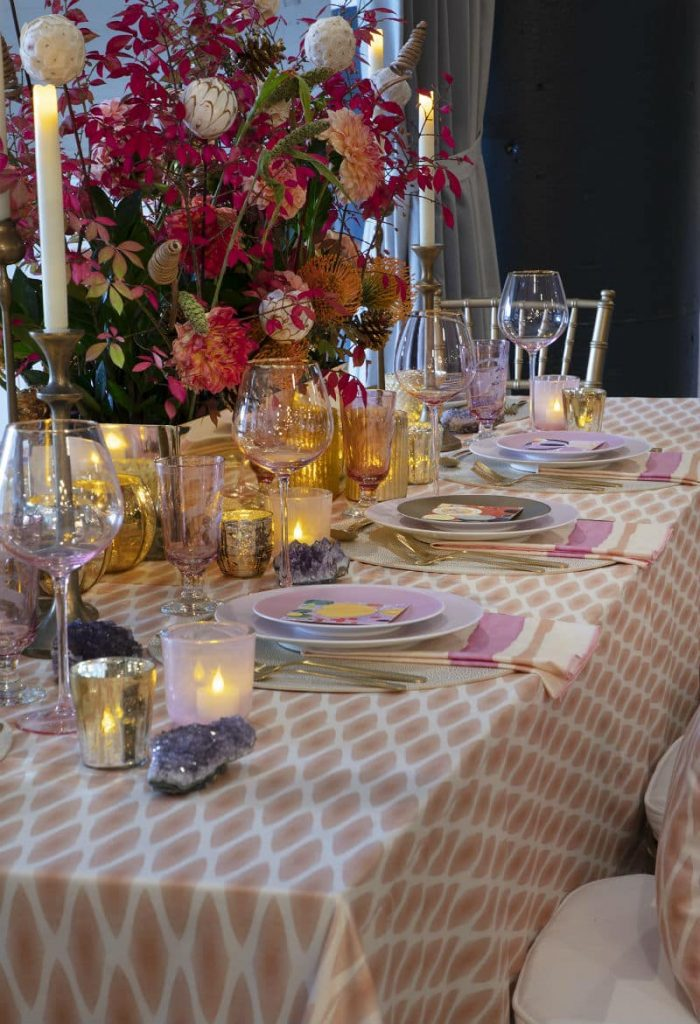 Linda Cabot Design Heading Home to Dinner Table Setting