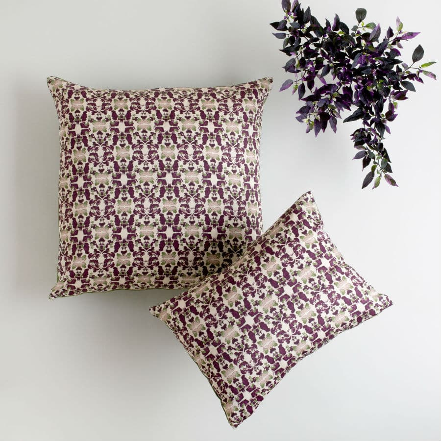 Organic cotton and hemp pillows by Linda Cabot Design