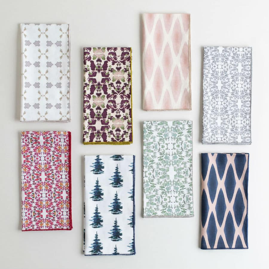 Organic cotton napkins by Linda Cabot Design