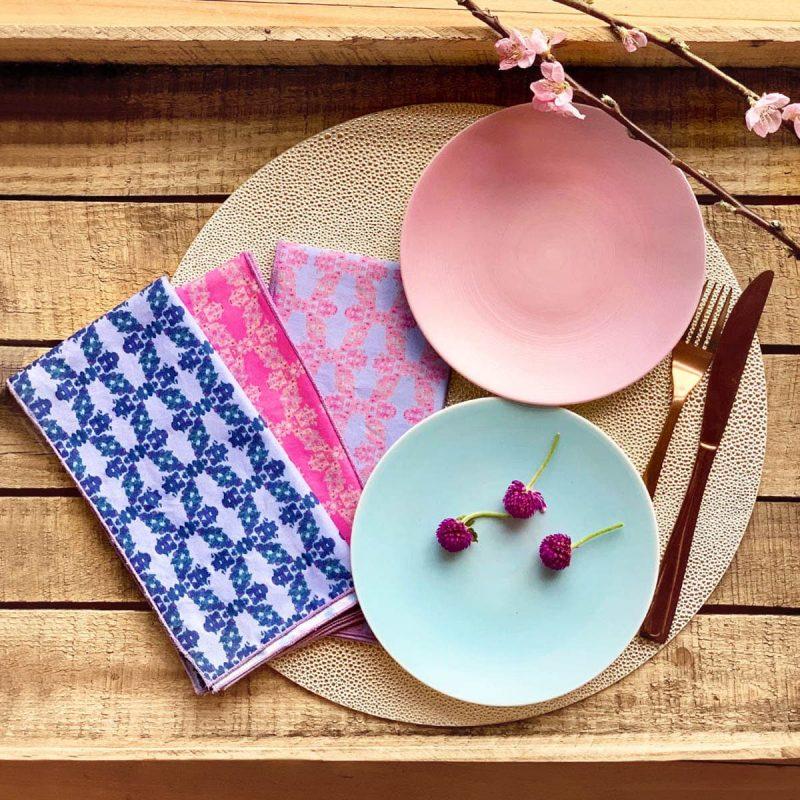 colorful organic cotton napkins