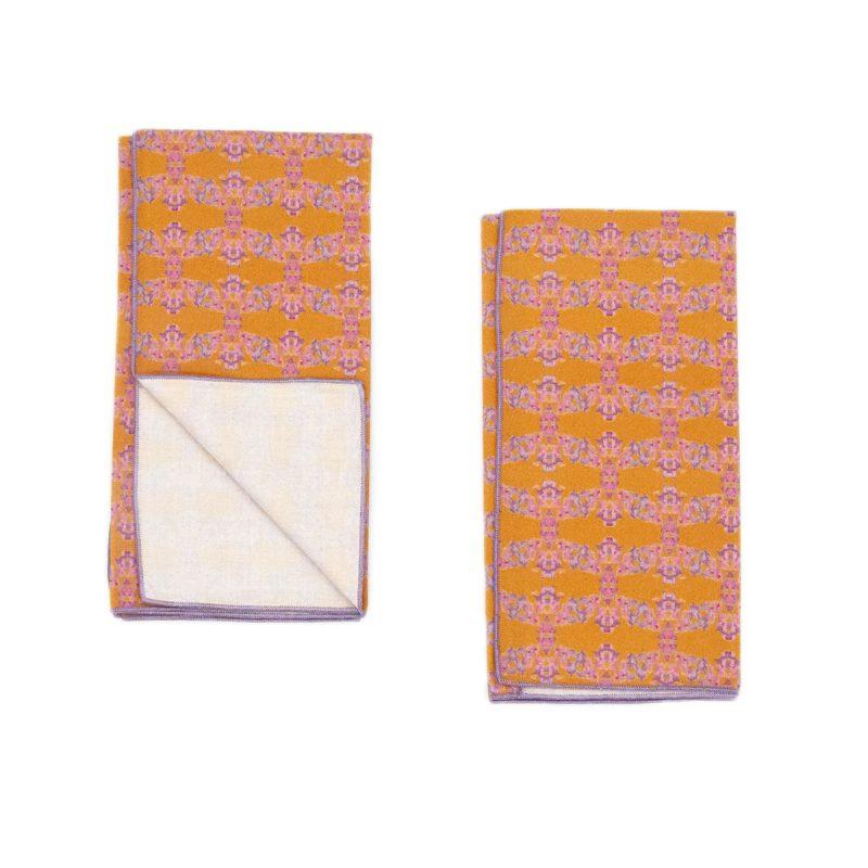 orange and purple organic napkins