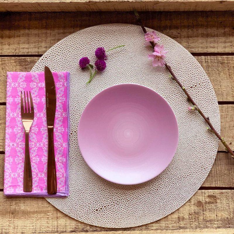 pink sustainable cotton napkin