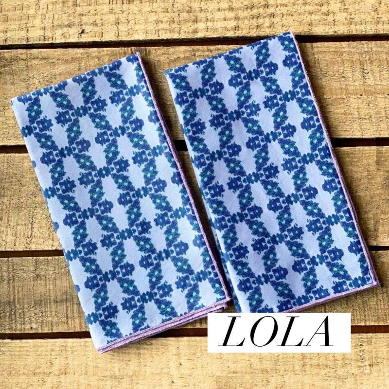 sustainable blue fabric napkins
