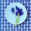 periwinkle organic table runner