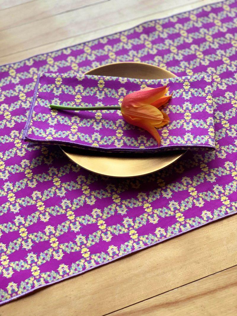 cheerful organic cloth napkin