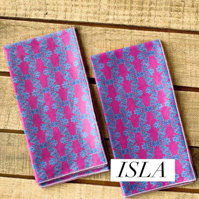 sustainable maroon fabric napkins