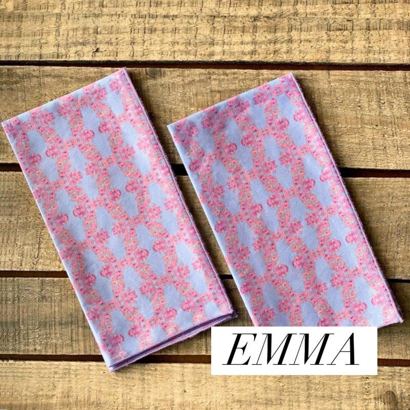 sustainable periwinkle fabric napkins