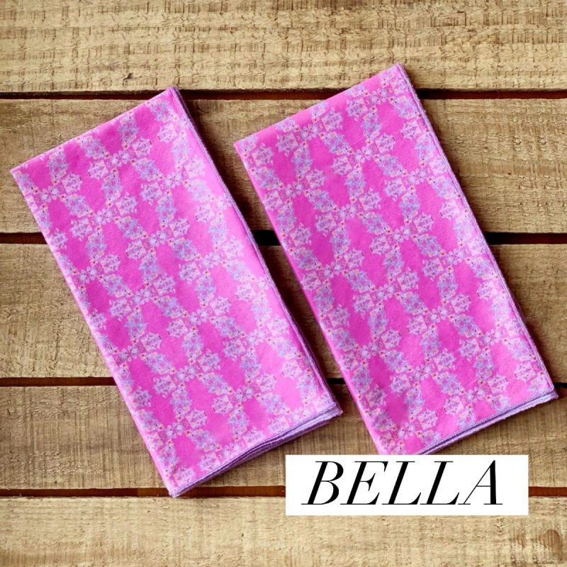 sustainable pink fabric napkins
