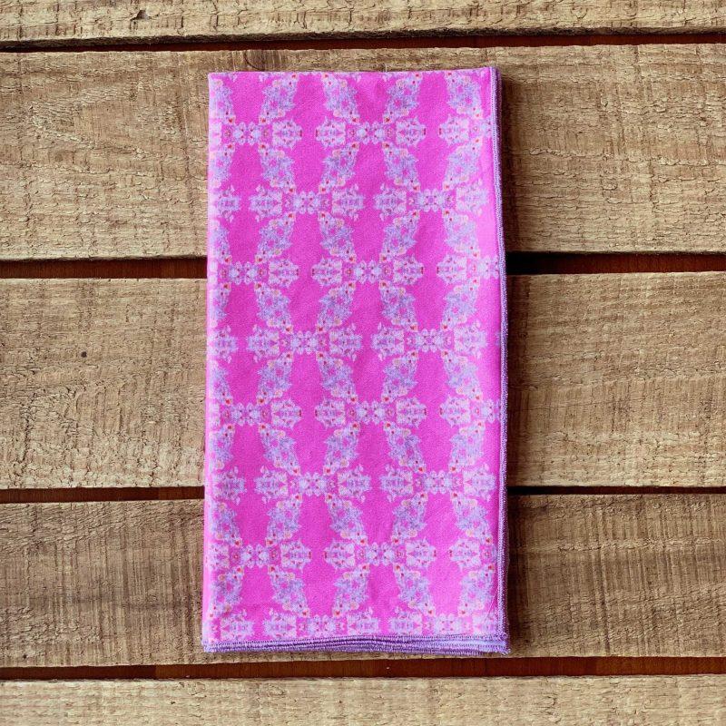 Pink organic cotton napkin