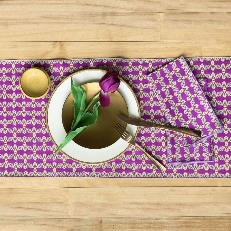 sustainable fabric cloth napkins and runner