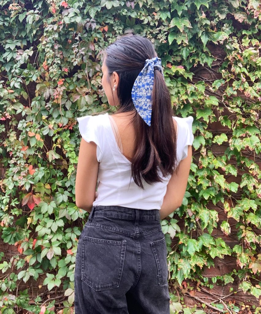 Navy Scrunchie Hair Kerchief sustainable