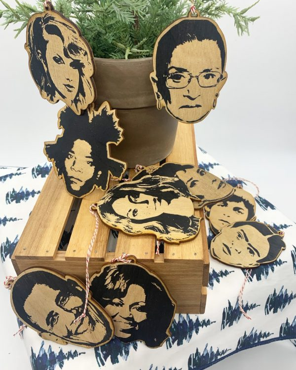 Famous Faces celebrity Wooden Ornaments group