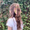 Lime Lace tencel scrunchie hair kerchief