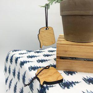 wooden toilet paper ornament