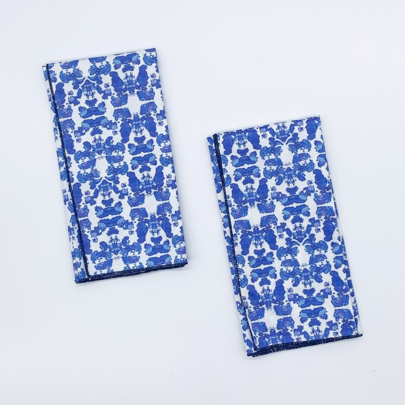 Beach Rose Blue organic cotton 2pk napkin