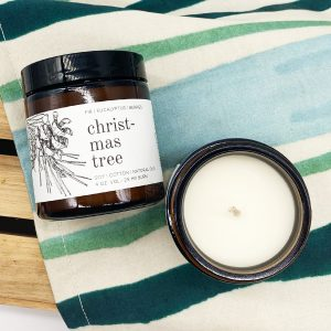 Christmas Tree Candle small travel size soy