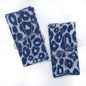 Sustainable Linen Cheetah 2pk Napkins