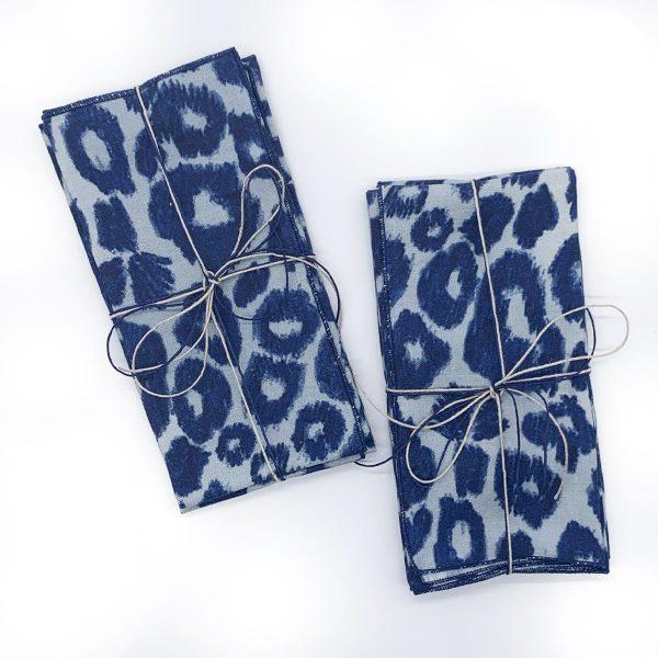 Sustainable Linen Cheetah 2pk Napkins