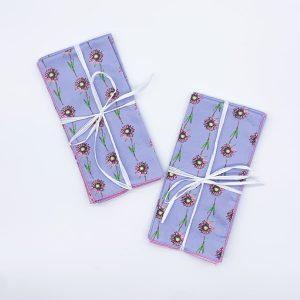 Lavender Daisy 2pk organic cotton Napkin