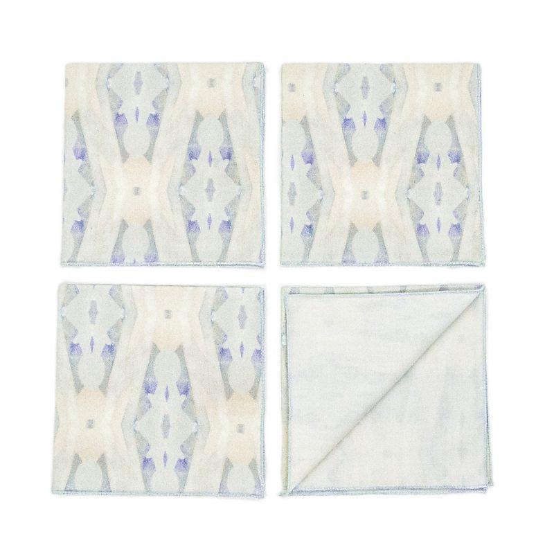 pattern organic cotton cocktail napkins