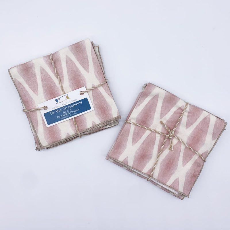 soft lattice petal organic cotton on the go napkins