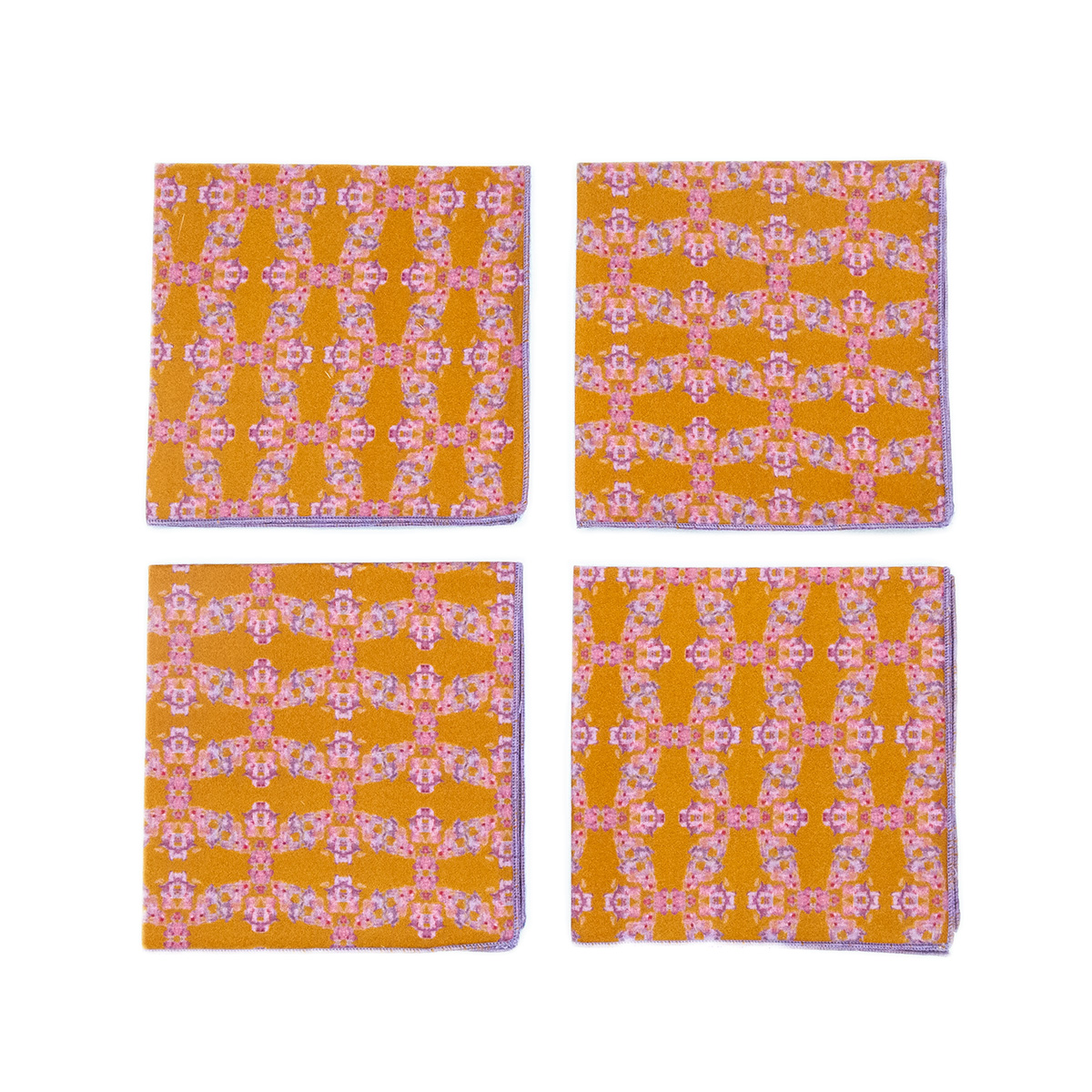orange cocktail napkins