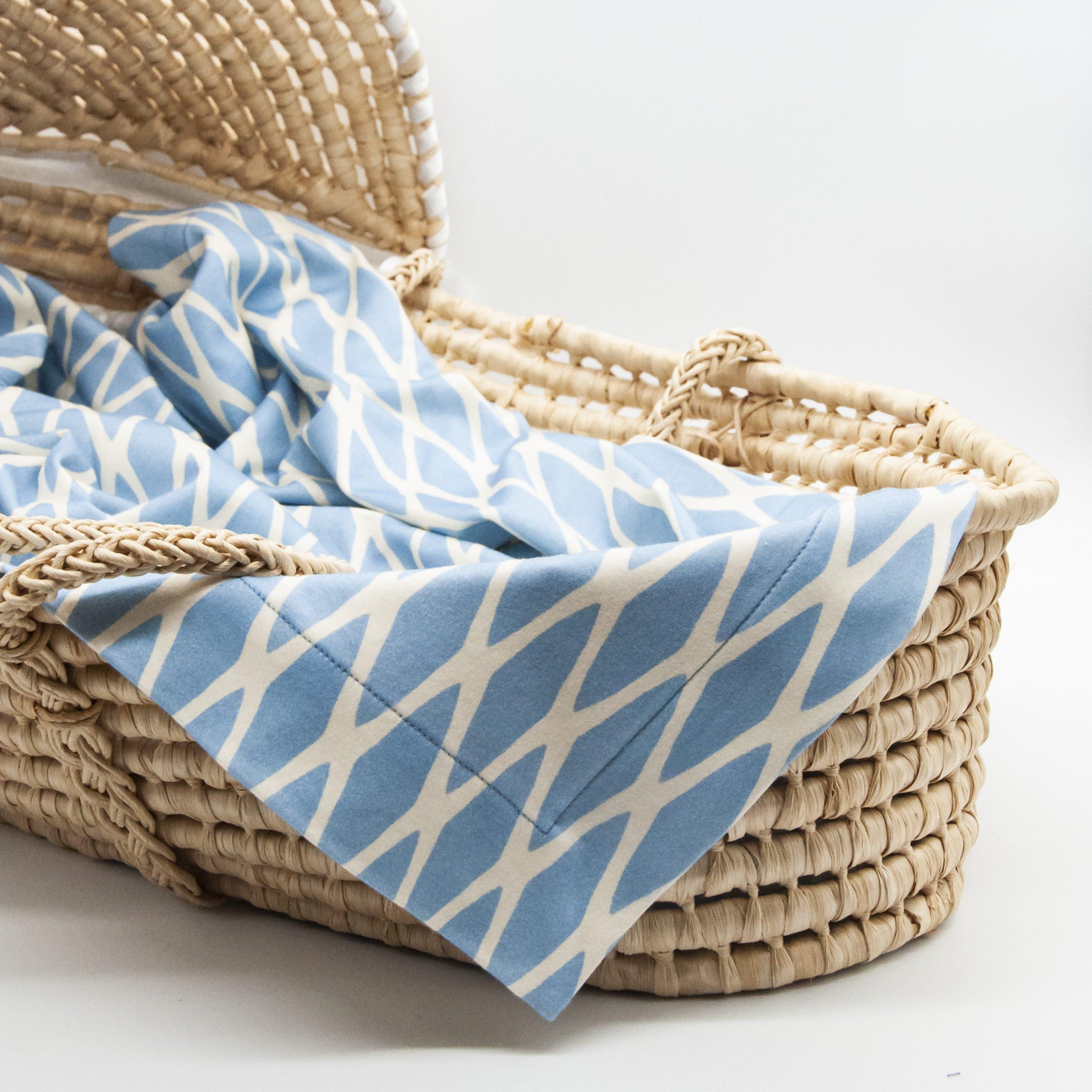 organic blue baby blanket