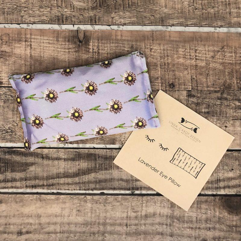 Stress relieving organic cotton lavender eye pillow