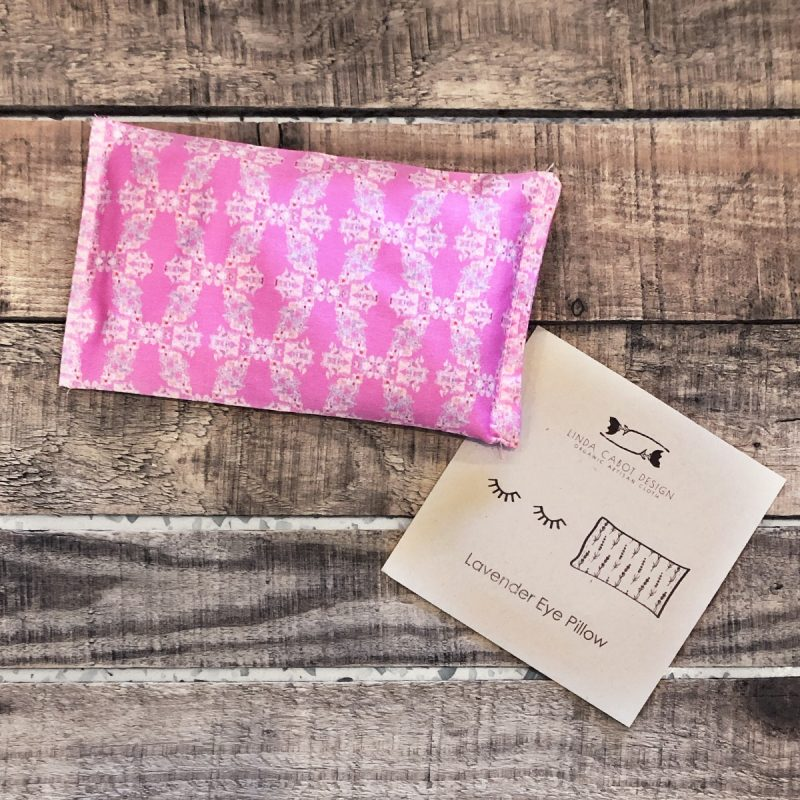 Organic flax and lavender eye pillow for stress relief