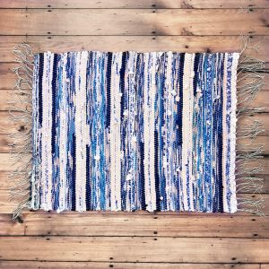 handwoven organic cotton rag rug