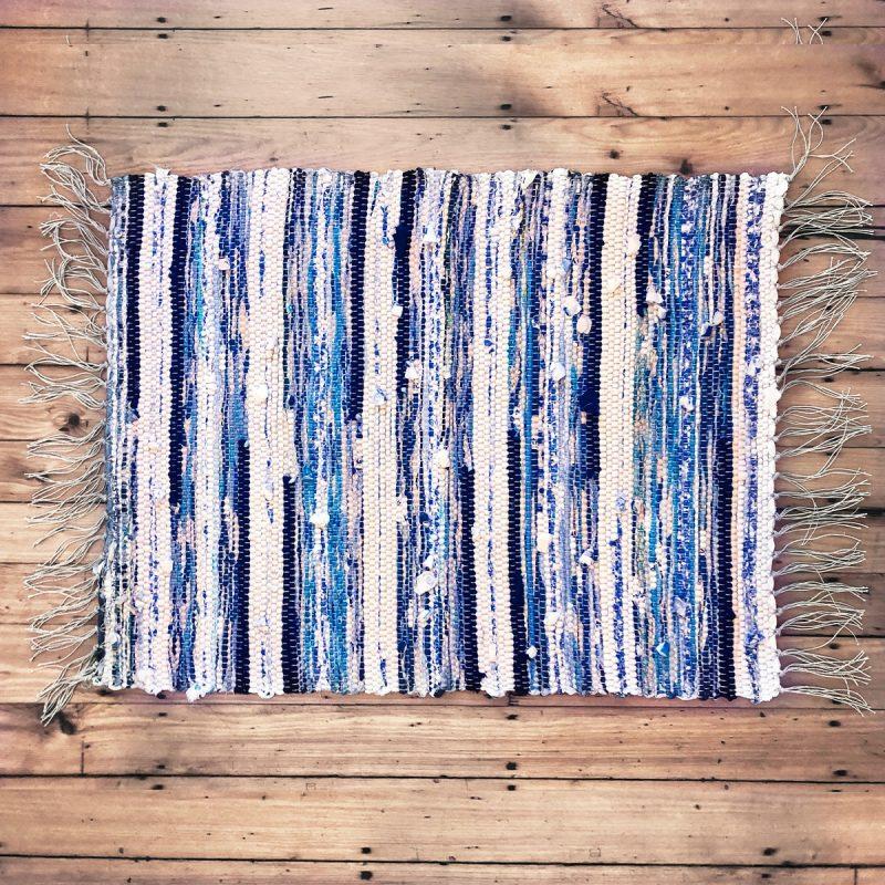 handwoven organic cotton rag rug