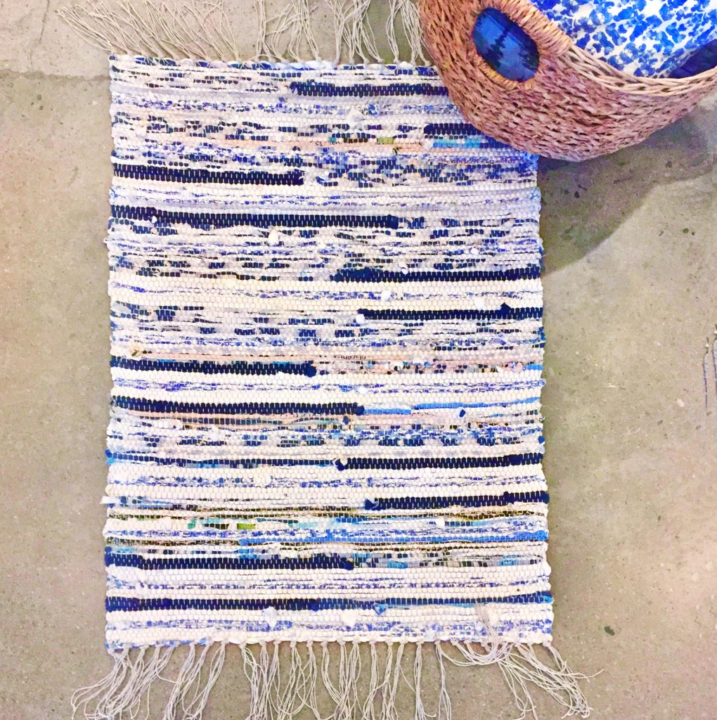 Handwoven Upcycled Fabric Scrap Rug