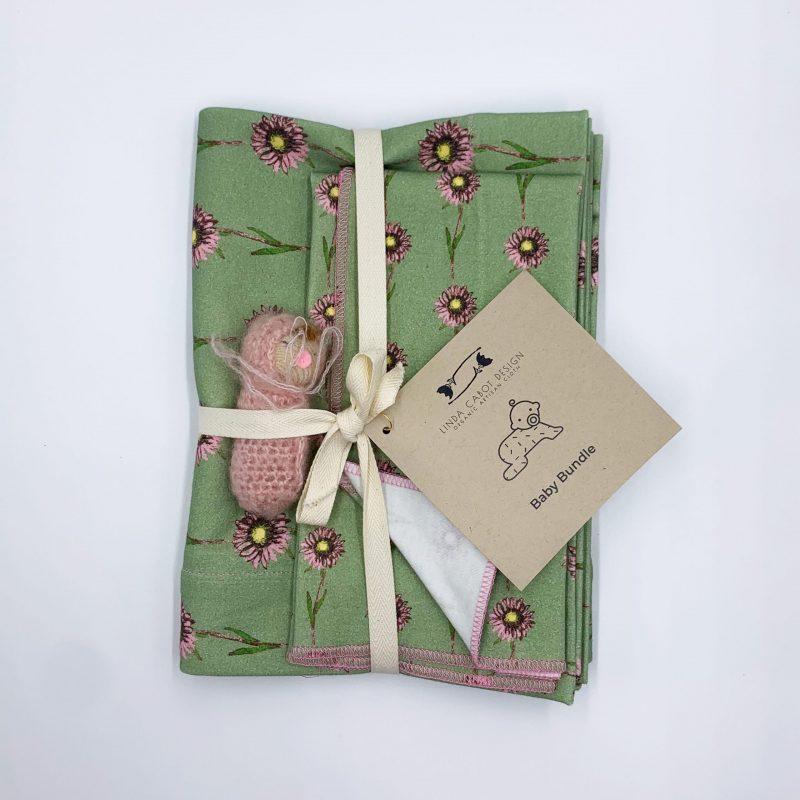 Green organic cotton Baby Blanket